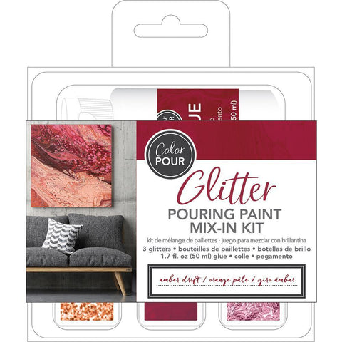 American Crafts - Colour Pour Glitter Mix-In Kit 4 pack - Amber Drift