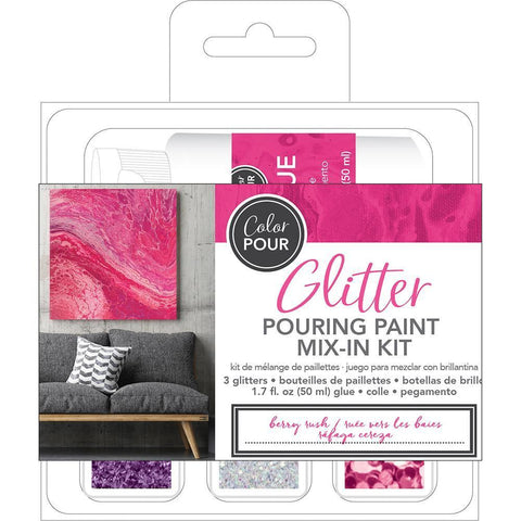 American Crafts - Colour Pour Glitter Mix-In Kit 4 pack - Berry Rush