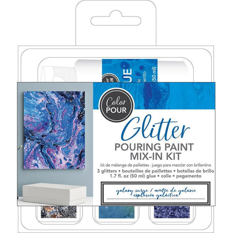 American Crafts Colour Pour Glitter Mix-In Kit 4 pack - Galaxy Surge
