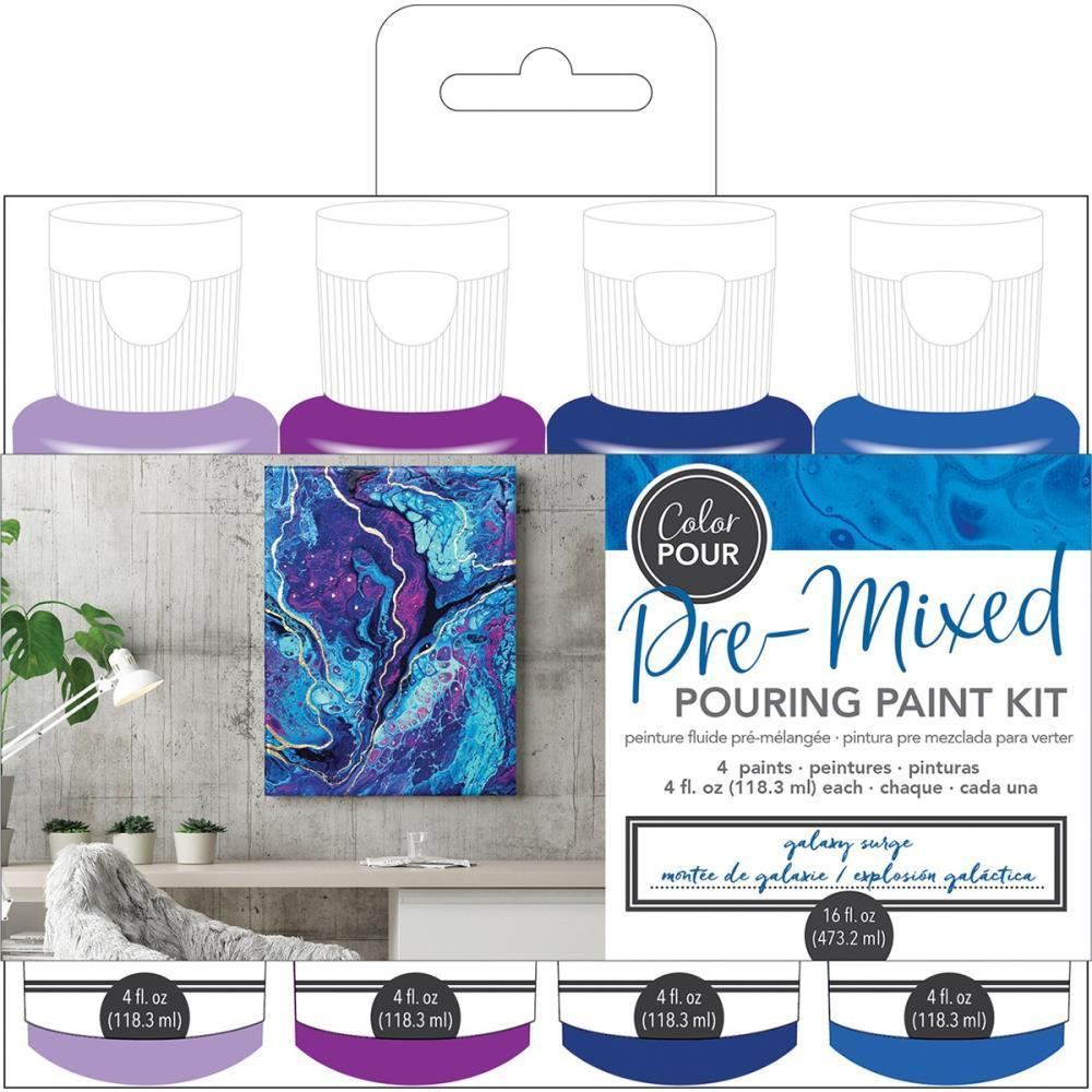 American Crafts - Colour Pour Pre-Mixed Paint Kit 4 pack - Galaxy Surge
