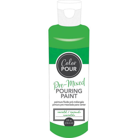 American Crafts - Colour Pour Pre-Mixed Paint 8oz - Emerald