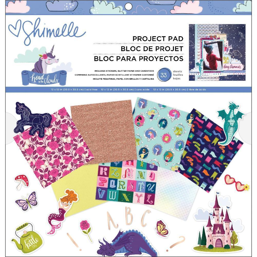 American Crafts - Shimelle Head In The Clouds Project Pad 12x12inch 33 pack