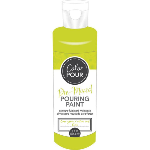 American Crafts - Colour Pour Pre-Mixed Paint 8oz - Lime Green