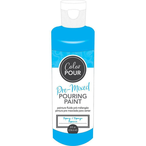 American Crafts - Colour Pour Pre-Mixed Paint 8oz - Topaz