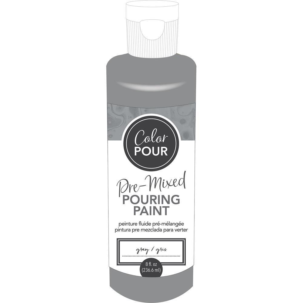 American Crafts - Colour Pour Pre-Mixed Paint 8oz - Gray