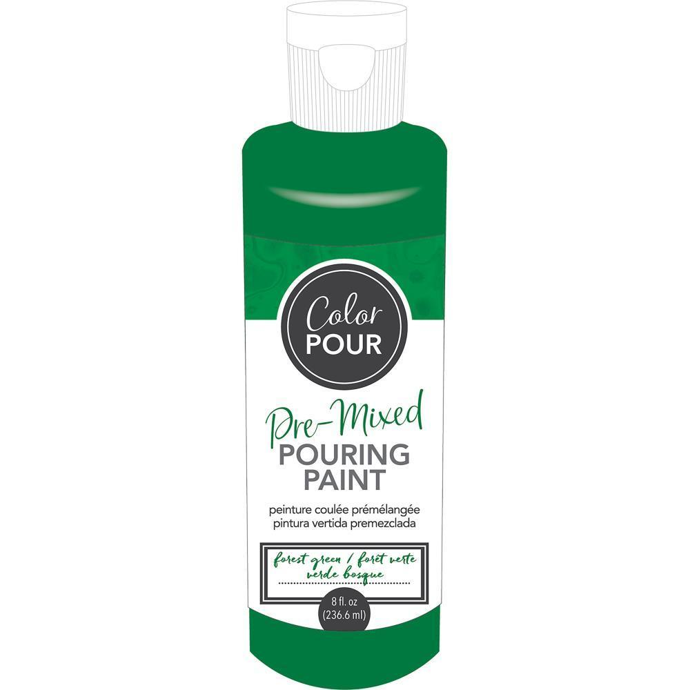 American Crafts - Colour Pour Pre-Mixed Paint 8oz - Forest Green