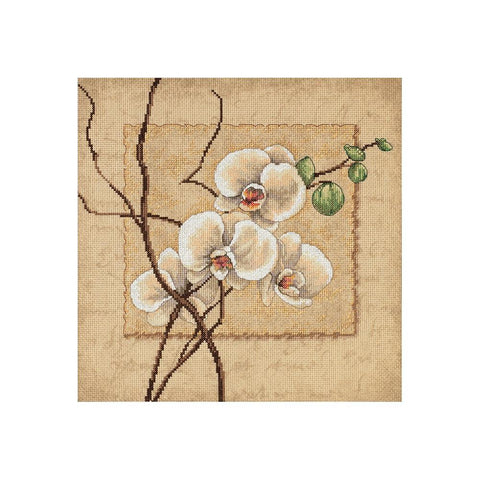 Dimensions Counted Cross-Stitch Kit 12in x 12in - Oriental Orchids (14 counts)