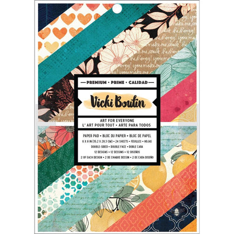Vicki Boutin Double-Sided Paper Pad 6X8 24/Pkg - Wildflower & Honey, 12 Designs/2 Each