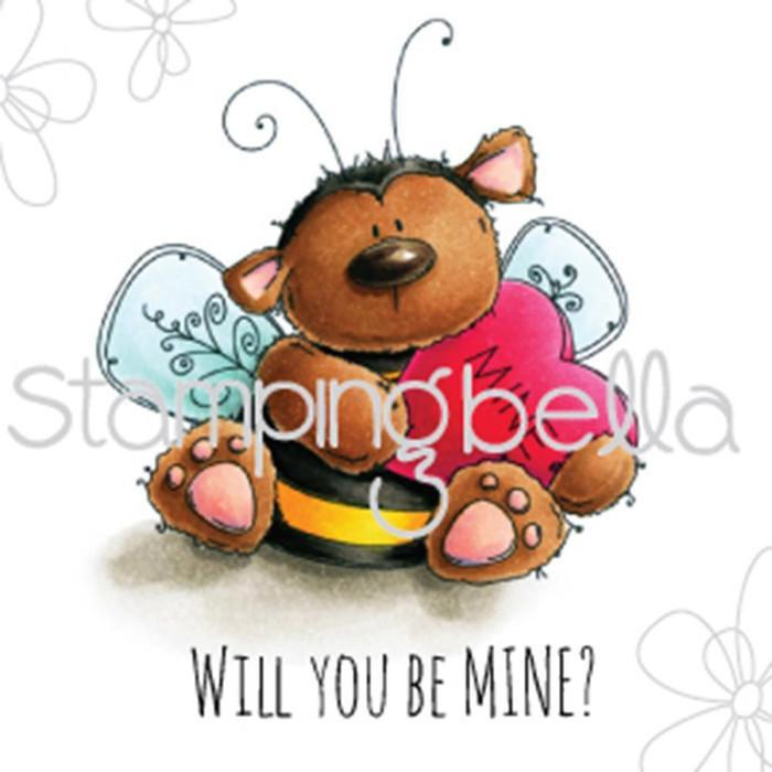 Stamping Bella Cling Stamp 6.5 Inch X4.5 Inch Bee Mine
