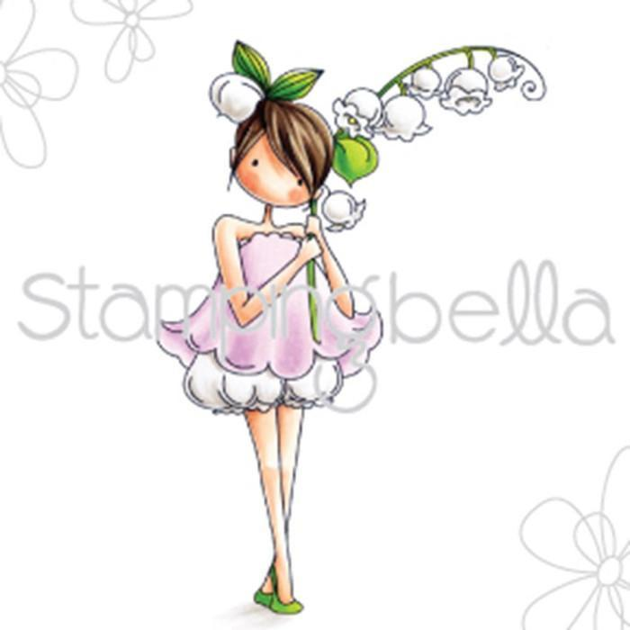 Stamping Bella Cling Stamp - Tiny Townie Garden Girl Lily Of The Valley