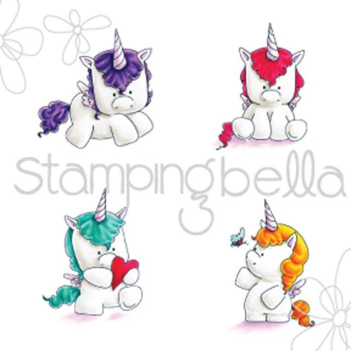 Stamping Bella Cling Stamp 6.5 Inch X4.5 Inch Set Of Unicorns