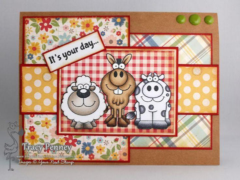 Your Next Stamp Clear Stamps 4x6 - Funny Farm Crew