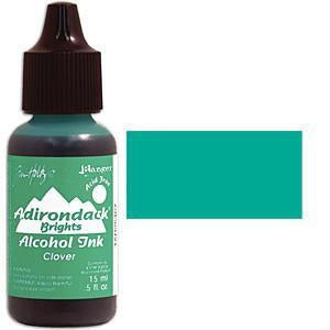 Adirondack Alcohol Ink .5 Ounce - Brights - Clover