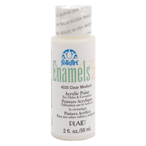 FolkArt Enamel Paint 2oz - Transparent Medium