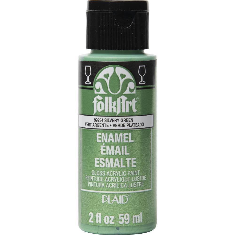 FolkArt - Enamel Paint 2oz - Metallic Silvery Green