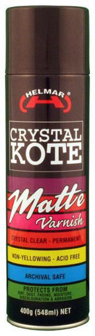 Helmar Crystal Kote Matte Varnish Spray 400g