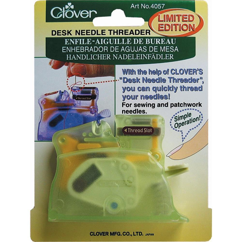 Clover Desk Needle Threader Green