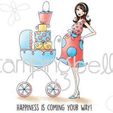 Stamping Bella Cling Stamp 6.5 Inch X4.5 Inch Baby Carriage Bella