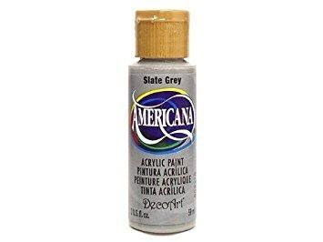 Americana Acrylic Paint 2oz - Slate Grey - Opaque