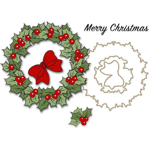 Art Impressions Christmas Cling Rubber Stamp Set 4 Inch X4 Inch Christmas Wreath