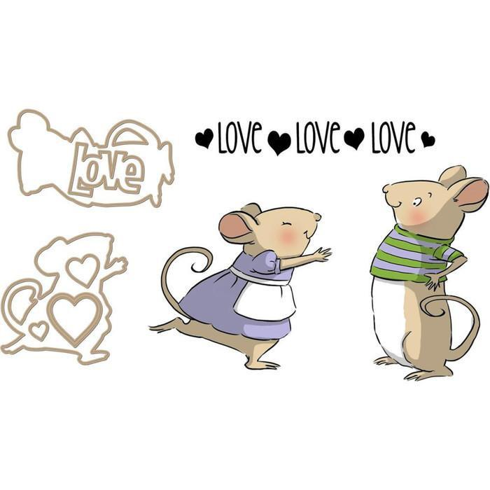 Art Impressions Slider Clear Stamp And Die Set 3 Inch X4 Inch Mouse