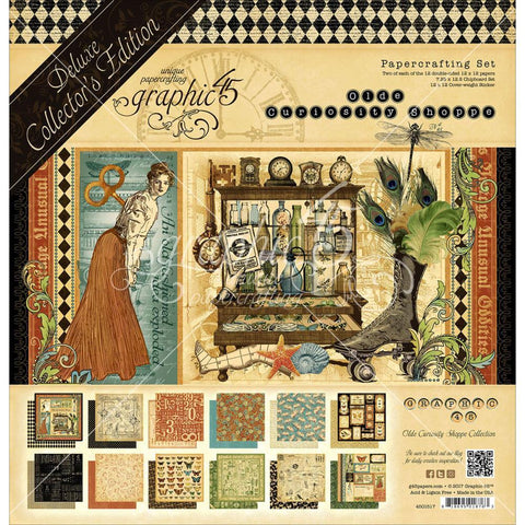 Graphic 45 12x12 inch Deluxe Collectors Edition Pack - Olde Curiosity Shoppe