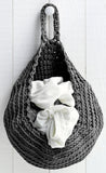 Hoooked Storage Bag Yarn Kit with Zpagetti Yarn - Dark Gray/Anthracite