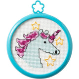 Bucilla/My 1st Stitch Mini Counted Cross Stitch Kit 3 Frame Mystical Unicorn (14 Count)