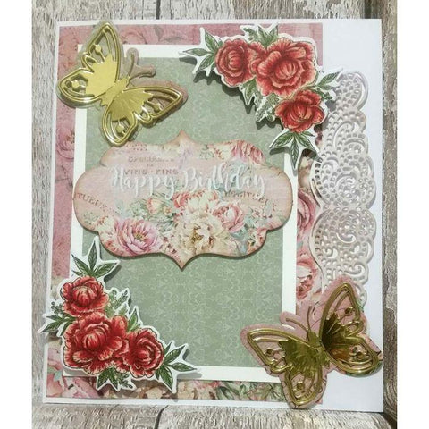 Crafter's Companion - Nature's Garden Peony Border Die - Filigree Edge
