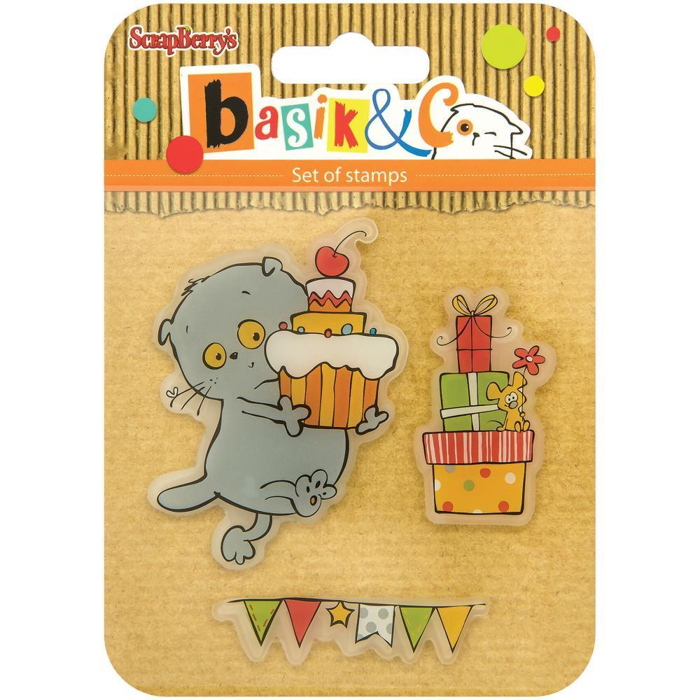 ScrapBerrys Basiks New Adventure Clear Stamps Party #2