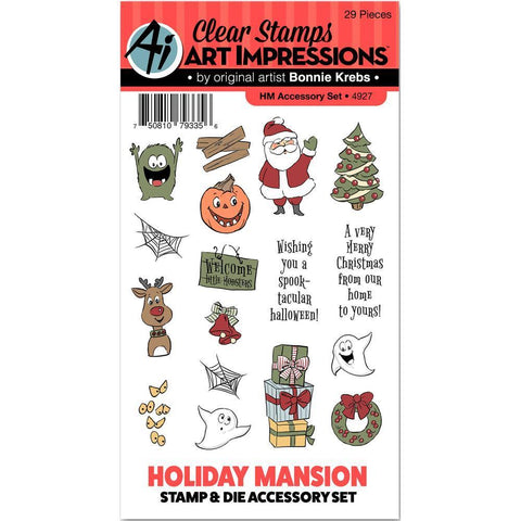 Art Impressions Stamp & Die Set - Holiday Mansion Accessory Set