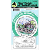 Art Impressions Circlet Mini TryFolds Stamp & Die Set - Cabin