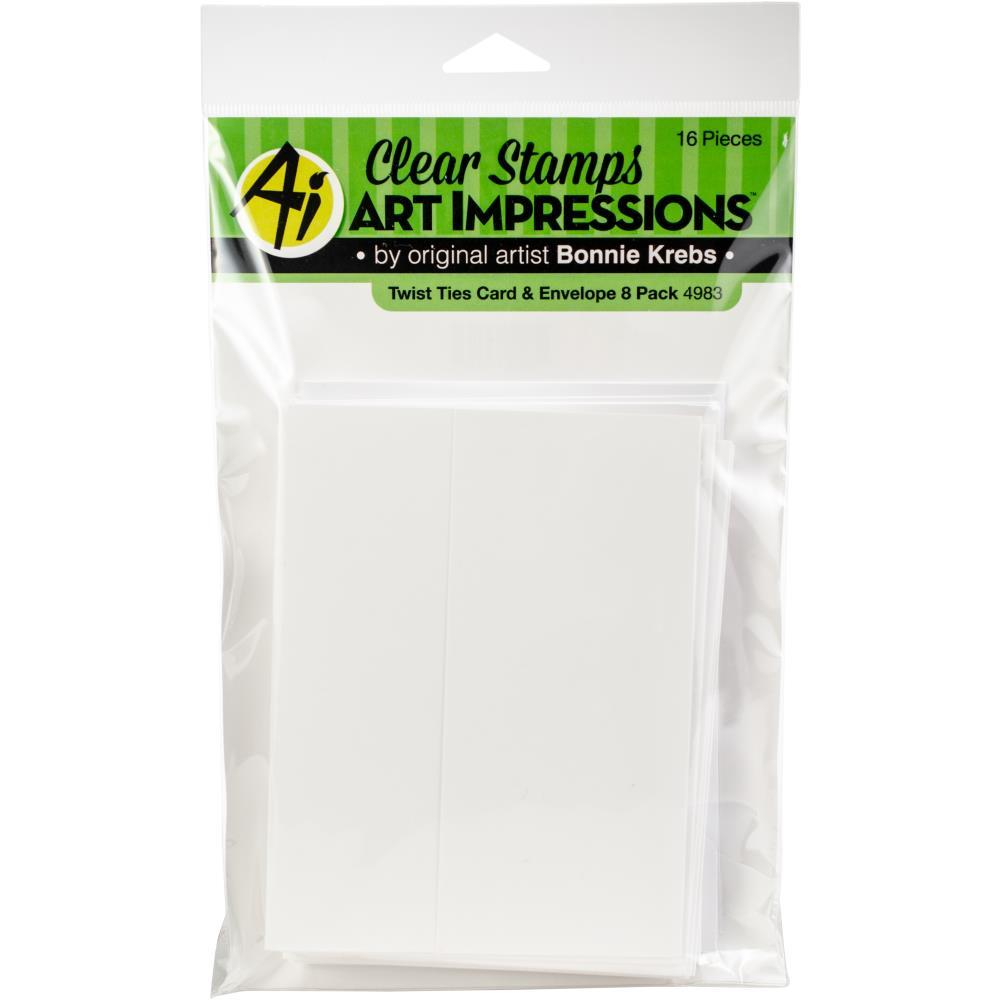 Art Impressions Twist Ties Cards & Envelopes 8 pack