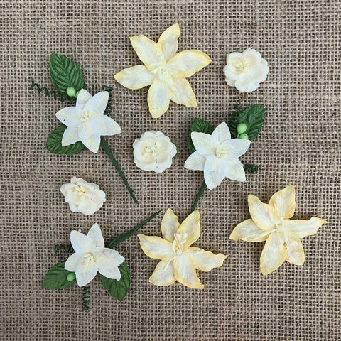 49 And Market Stargazers Paper Flowers 9 pack - Lemon Drop