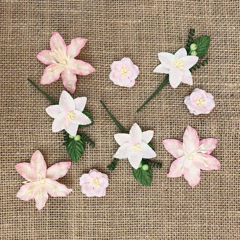 49 And Market Stargazers Paper Flowers 9 pack - Petal Pink