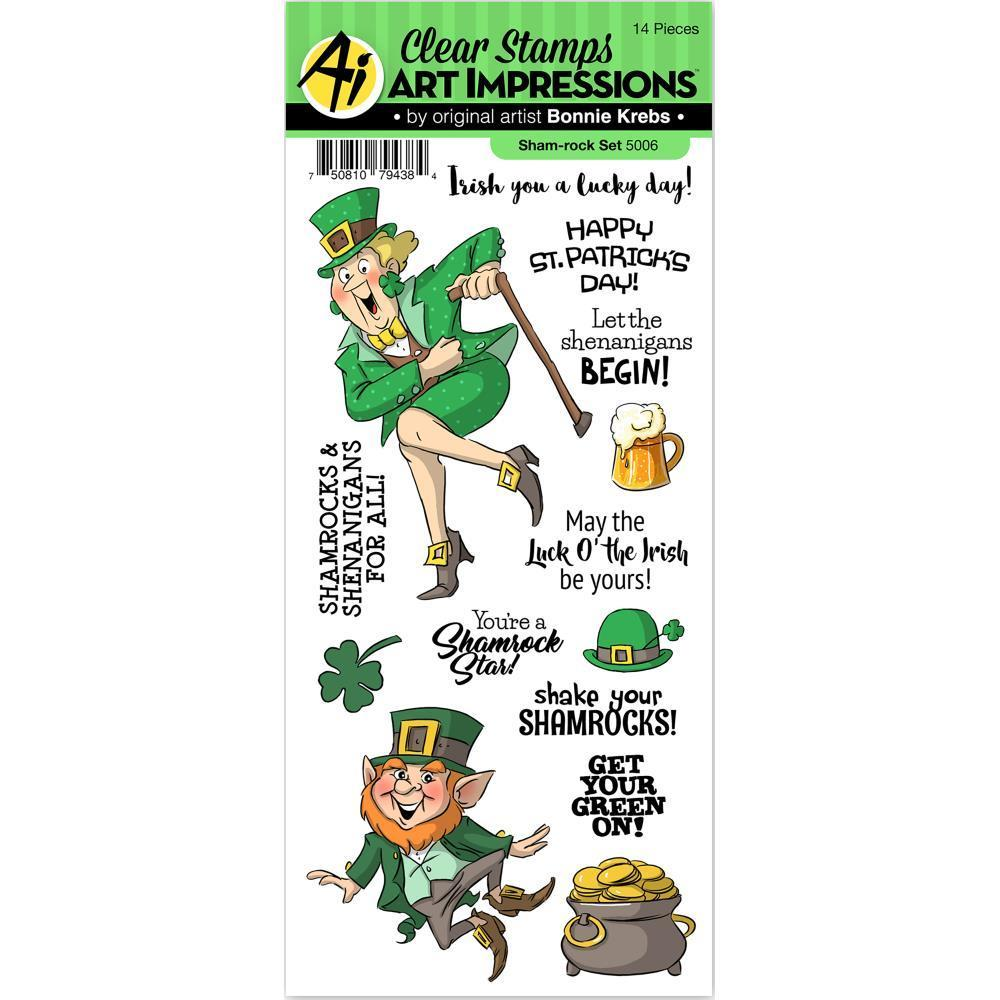Art Impressions St. Patricks Clear Stamps - Sham-Rock