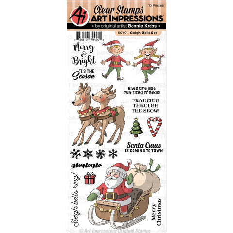 Art Impressions Christmas Clear Stamps - Sleigh Bells