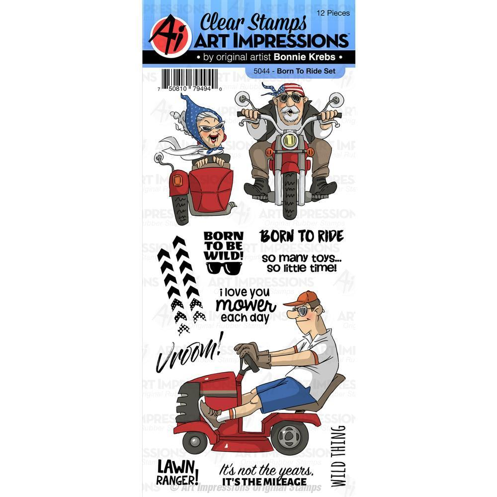 Art Impressions Work & Play Clear Stamps - Born To Ride