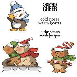 Art Impressions Christmas Cling Rubber Stamp Set 8 Inch X4 Inch Christmas Cheer