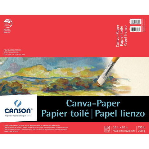 Canson Foundation Series Canva-Paper Pad 16inch X20 inch 10 Sheets