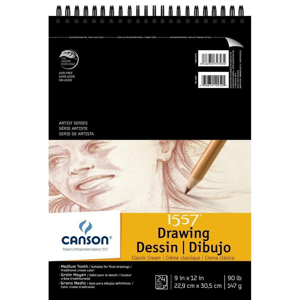 Canson Artist Series Drawing Pad 9x12 - Classic Cream 24 Sheets