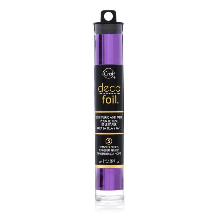Deco Foil 6X12in. 5 Pack Purple