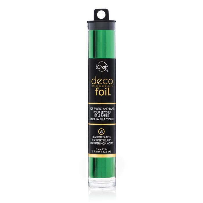 Deco Foil 6 Inch X12 Inch  5 Pack  Green