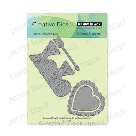 Penny Black Creative Dies - Your Love 5.29in x 2.3in