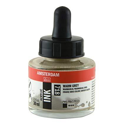 Talens Amsterdam Acrylic Ink 30ml - Warm Grey