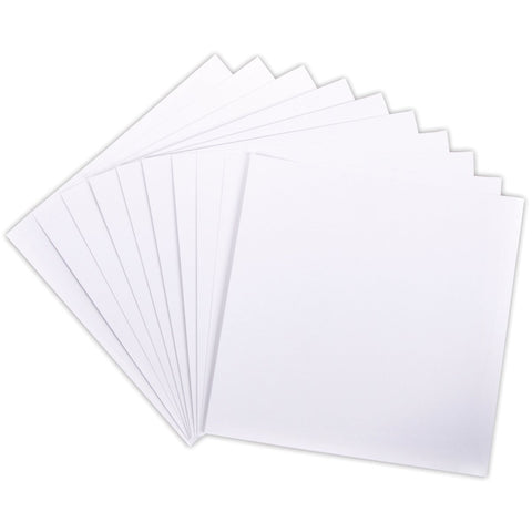 Poppy Crafts - 12x12 inch White Cardstock Sheets - 10 Sheets - 210 Gsm