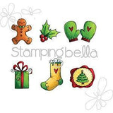 Stamping Bella Cling Stamp 6.5 Inch X4.5 Inch Christmas Spirit Envelope Accents