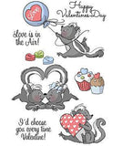 Art Impressions Valentine's Cling Rubber Stamp Set 7 Inch X4 Inch In The Air