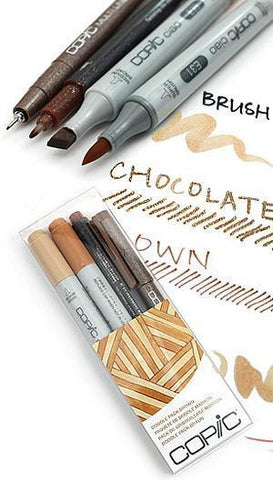 Copic - Ciao Doodle Pack - 4 Pen Set - Brown