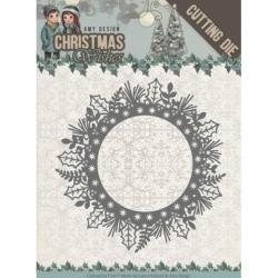 Find It Trading Amy Design Christmas Wishes Die - Holly Wreath
